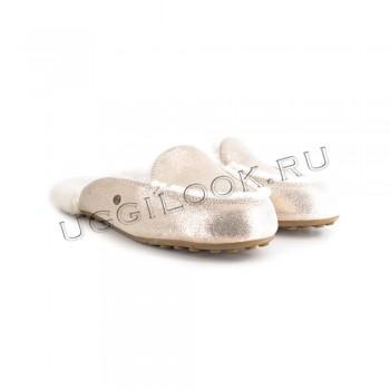 Женские меховые тапочки Lane Slip-On Loafer Розовое Золото