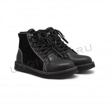 Женские ботинки на шнурках Navajo черные