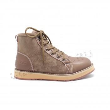 Женские ботинки на шнурках Navajo коричневые